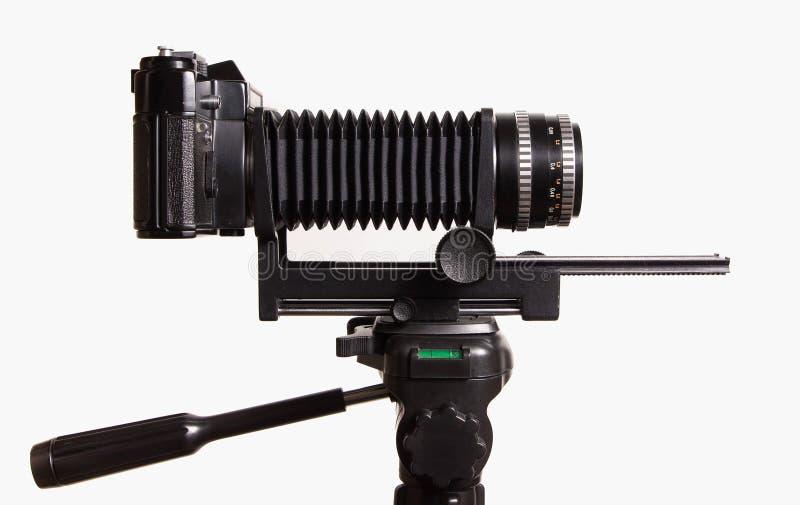 Oude camera met uitbreiding stock foto's