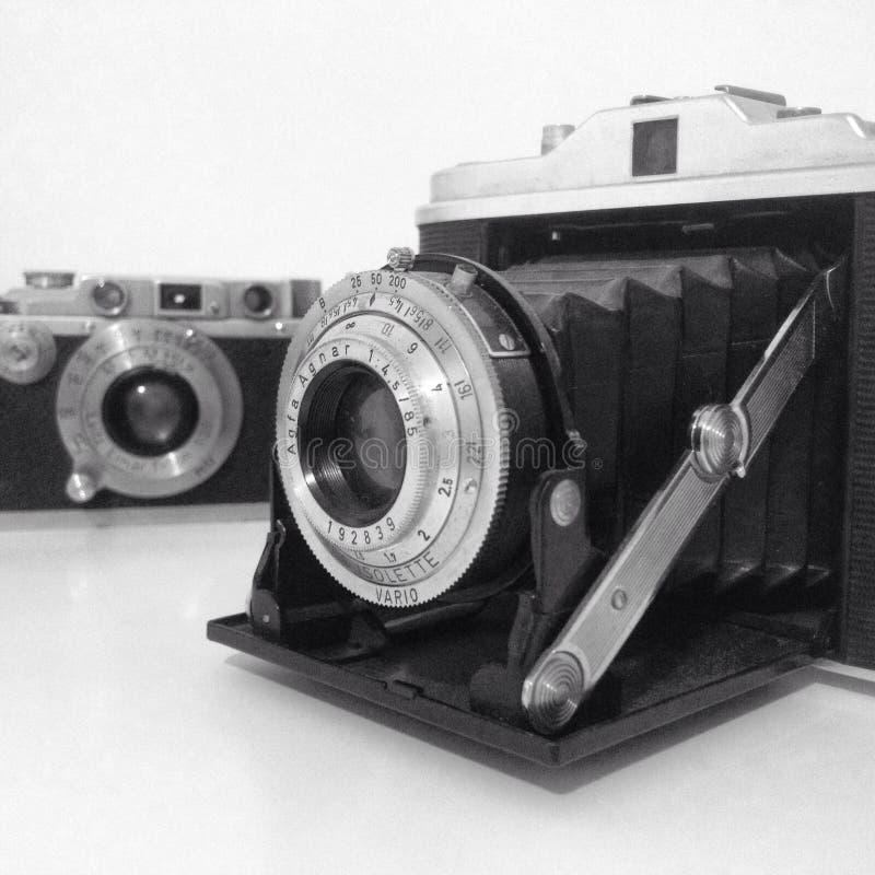 Oude camera's royalty-vrije stock afbeeldingen