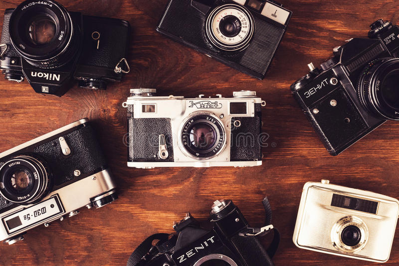 Oude camera's stock foto
