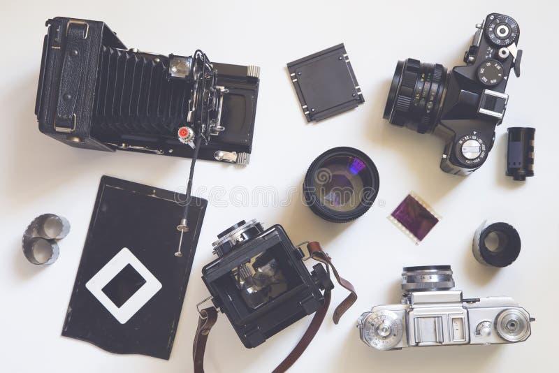 Oude camera's stock afbeeldingen