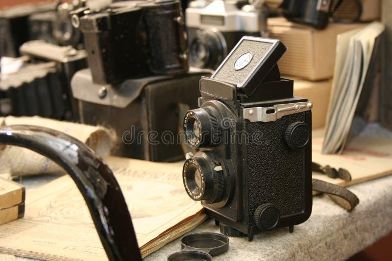 Oude Camera TLR stock fotografie