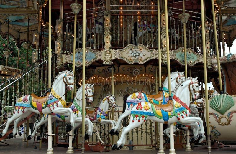 Oude carrousel stock afbeeldingen