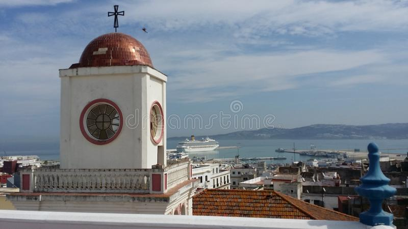 Oude cathedrale in Tanger royalty-vrije stock foto