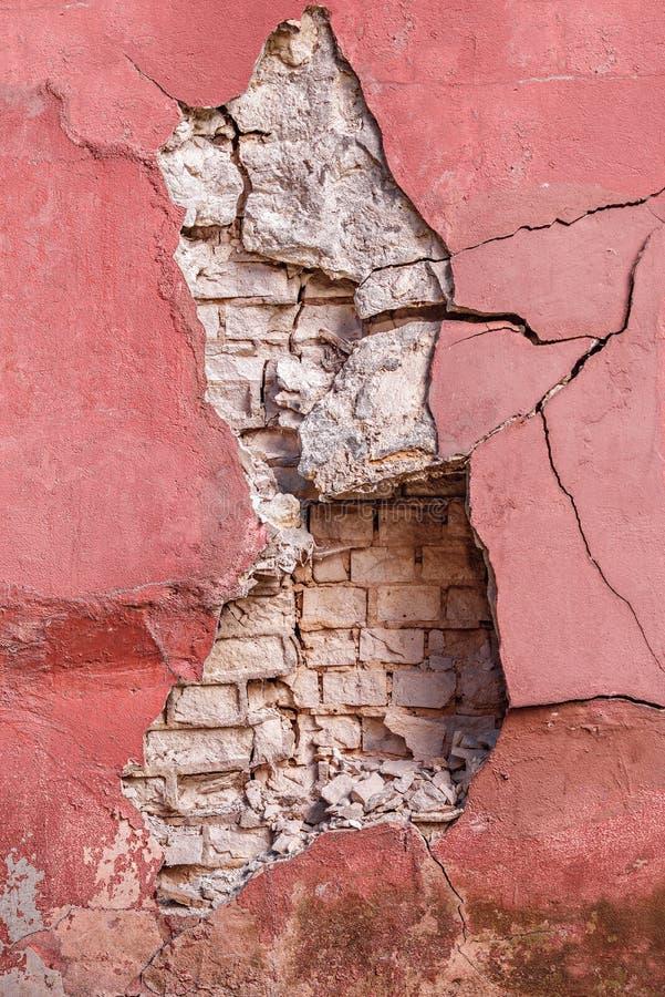 Oude cement en bakstenen muur royalty-vrije stock afbeelding