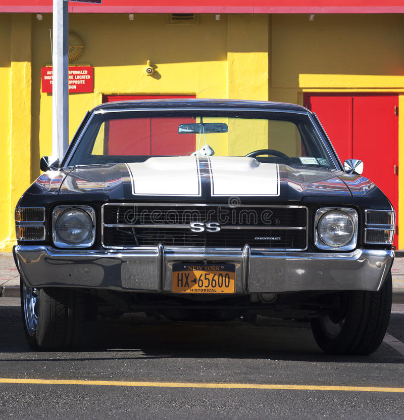 Oude Chevrolet-auto stock foto's