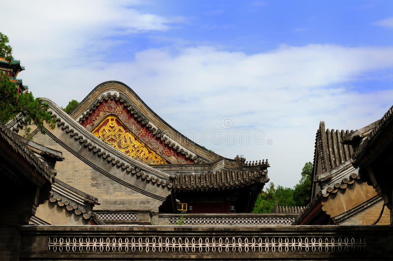 Oude Chinese Architectuur stock foto