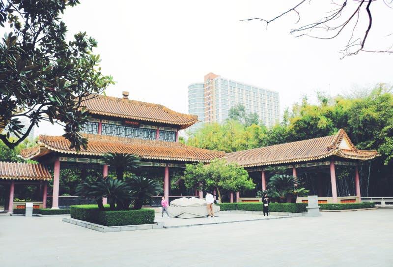 Oude Chinese kenmerkende architectuurgebouwen stock foto
