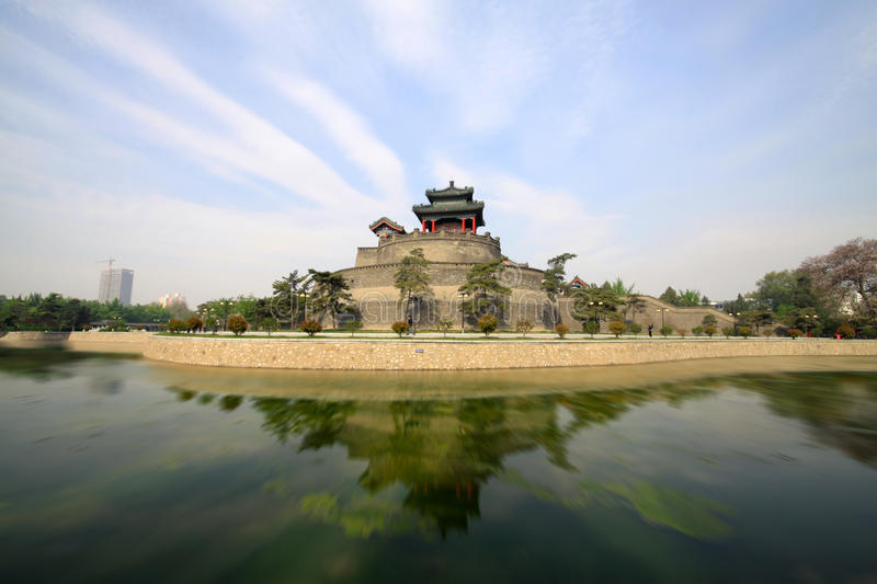 Oude Chinese traditionele architectuur stock afbeelding