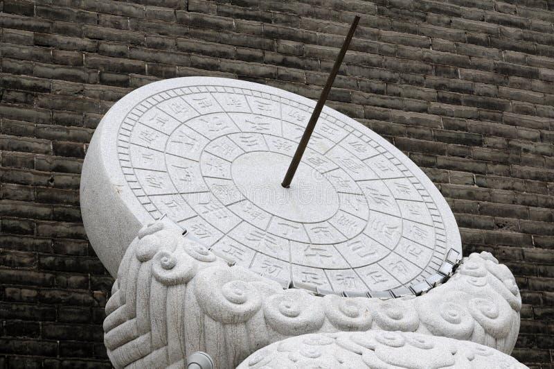 Oude Chinese Zonnewijzer royalty-vrije stock afbeeldingen