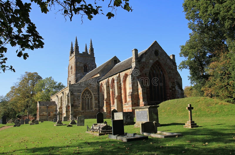 Oude Chuch in Stanford op Avon royalty-vrije stock afbeelding