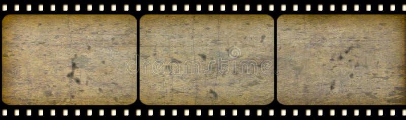 Oude cinematografie-film stock illustratie