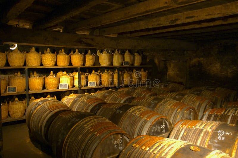 Oude cognac. Cognac, Frankrijk. stock fotografie