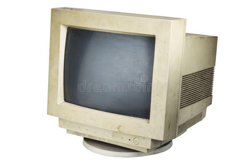 Oude computermonitor stock afbeeldingen