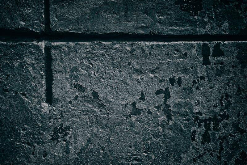 Oude concrete muur met kruisvormig reces - donkere grungy achtergrond royalty-vrije stock foto