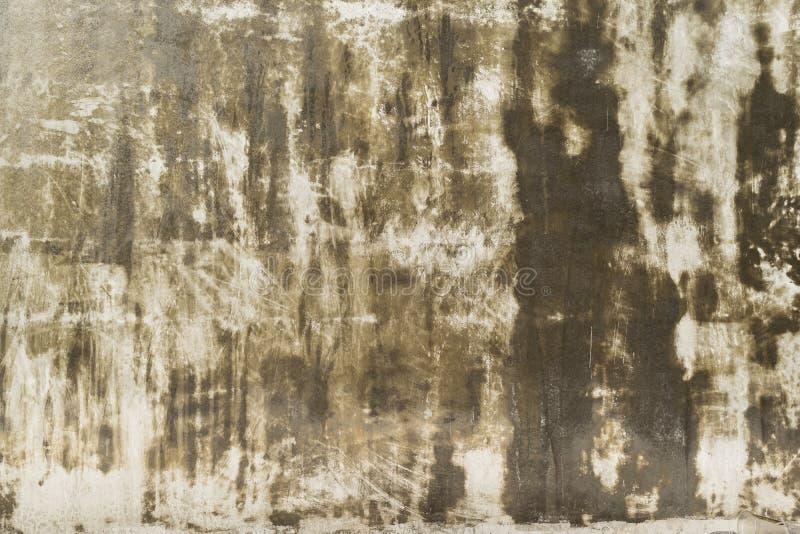 Oude concrete Vuile muur, vastgeroest royalty-vrije stock afbeeldingen