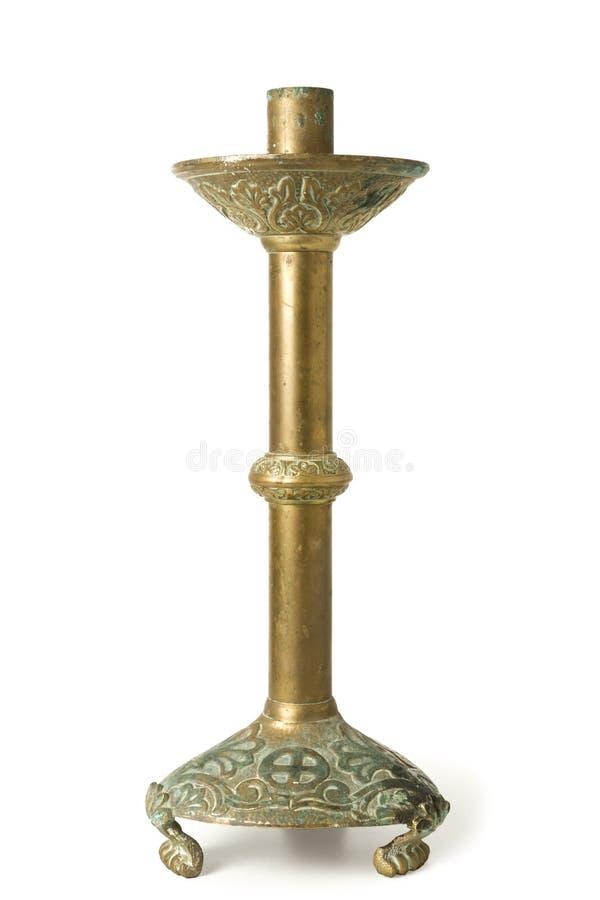 Oude Cupper-Kandelabers royalty-vrije stock afbeeldingen