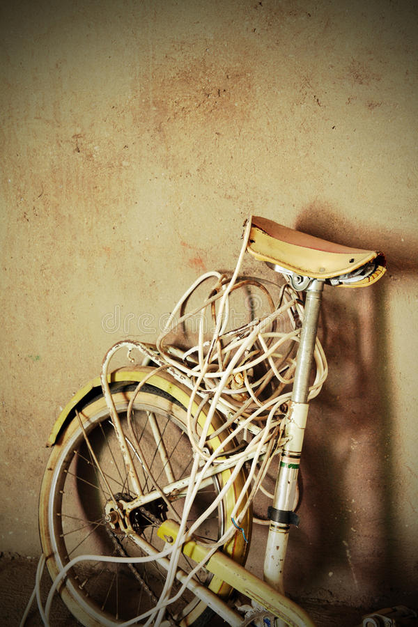 Oude cyclus stock fotografie