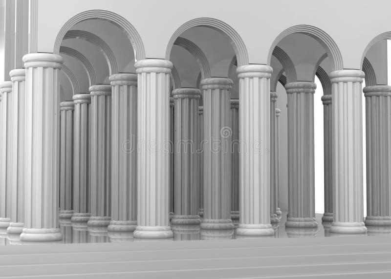 Oude 3D Tempel - vector illustratie