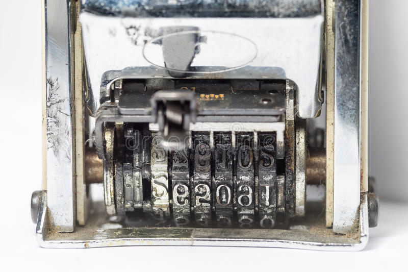 Oude Datumzegel stock fotografie