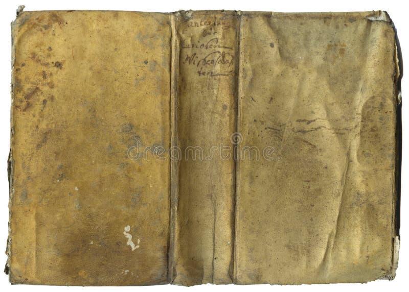 Oude de dekkingsvoorzijde van het Boek stock afbeelding