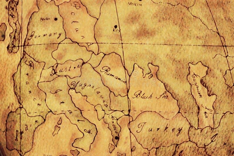 Oude de Kaartachtergrond van Wereldeuropa vector illustratie