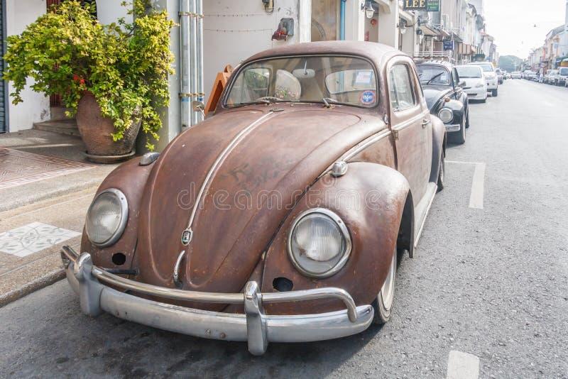 Oude de keverauto van Volkswagen stock foto