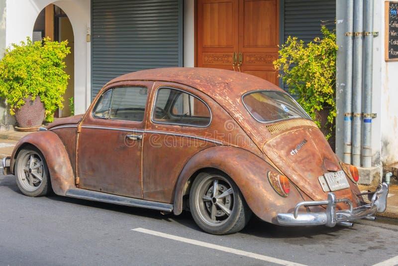 Oude de keverauto van Volkswagen stock afbeeldingen