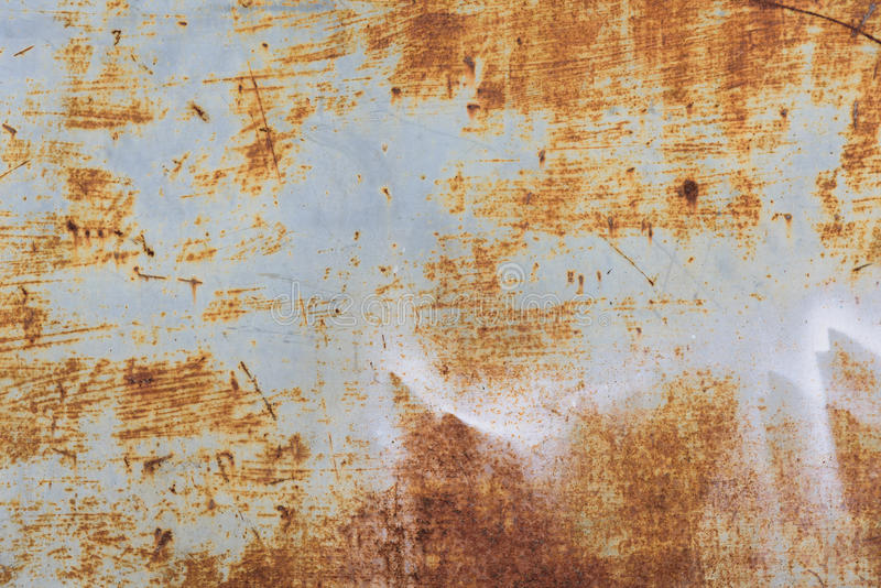 Oude de roestachtergrond van het metaalijzer stock foto