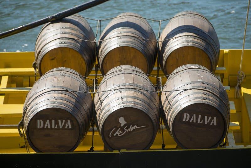 OUDE DE STADSdouro RIVIER VAN EUROPA PORTUGAL PORTO RIBEIRA stock afbeelding