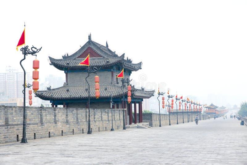 Oude de stadsmuur van Xi'an royalty-vrije stock foto