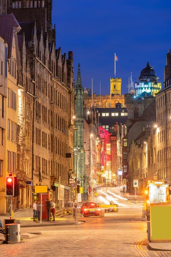 Oude de stadszonsondergang van Edinburgh royalty-vrije stock afbeelding