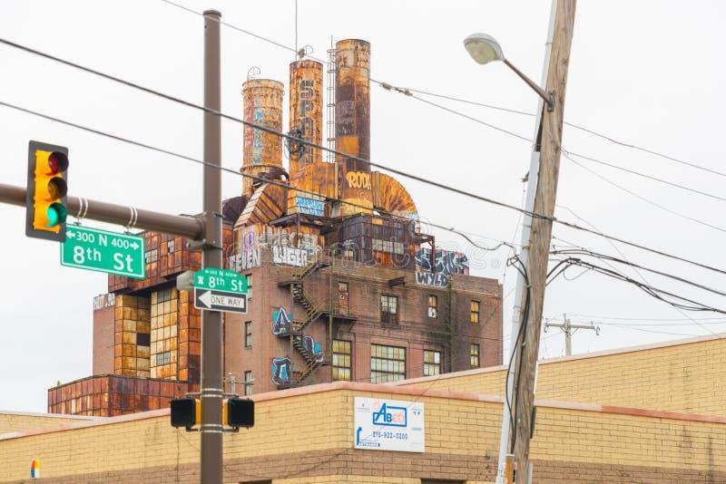 Oude de Straatmening van Philadelphia ` s stock fotografie