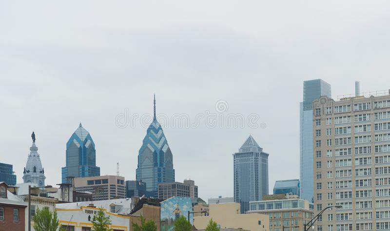 Oude de Straatmening van Philadelphia ` s stock foto