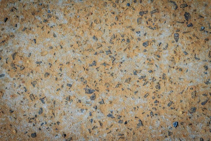 Oude de textuurachtergrond van de betonwegdesintegratie Desintegratie op het wegdek van slijtage en scheur royalty-vrije stock foto