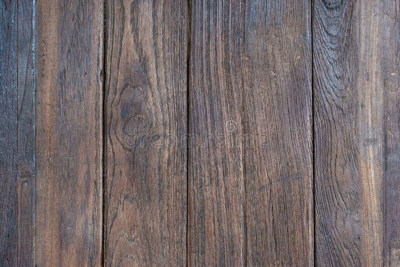 Oude de textuurachtergrond van de grunge bruine houten plank, houten uitstekende muur stock fotografie