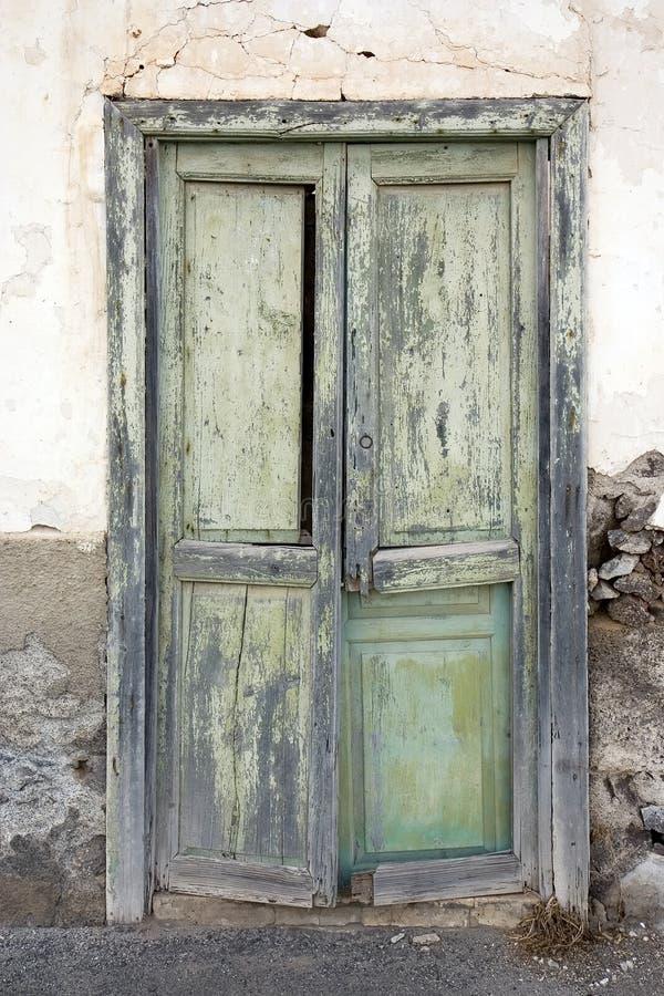 Oude deur in Lanzarote stock foto's