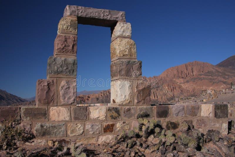 Oude deur in Tilcara royalty-vrije stock afbeelding