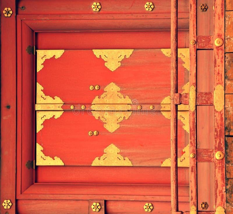 Oude deuropening in Japan stock afbeeldingen