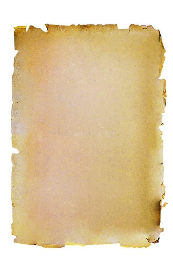 Oude die document textuur op witte achtergrond wordt geïsoleerd. stock foto