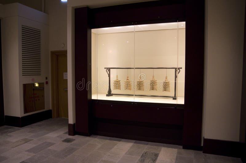 Oude die klokken in museum worden getoond royalty-vrije stock fotografie
