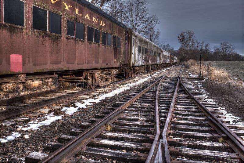 Oude die Trein in Wycombe, Pa wordt geplaatst De V.S. royalty-vrije stock foto's