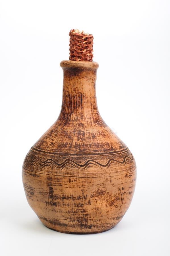 Oude wijnkruik stock afbeelding
