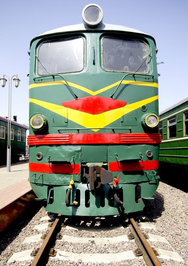 Oude diesel locomotief 2 royalty-vrije stock foto