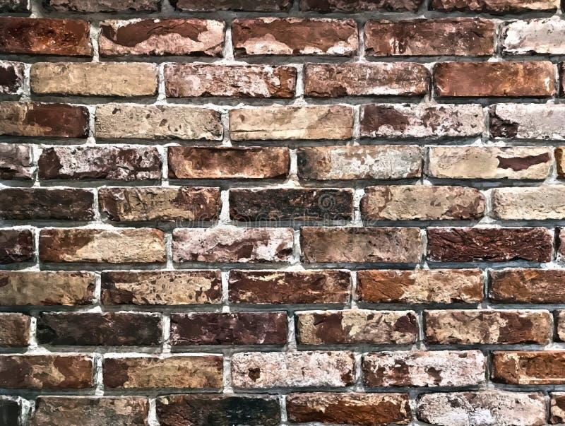 Oude dilapidated bakstenen muur Uitstekende grungeachtergrond, vector royalty-vrije stock afbeeldingen