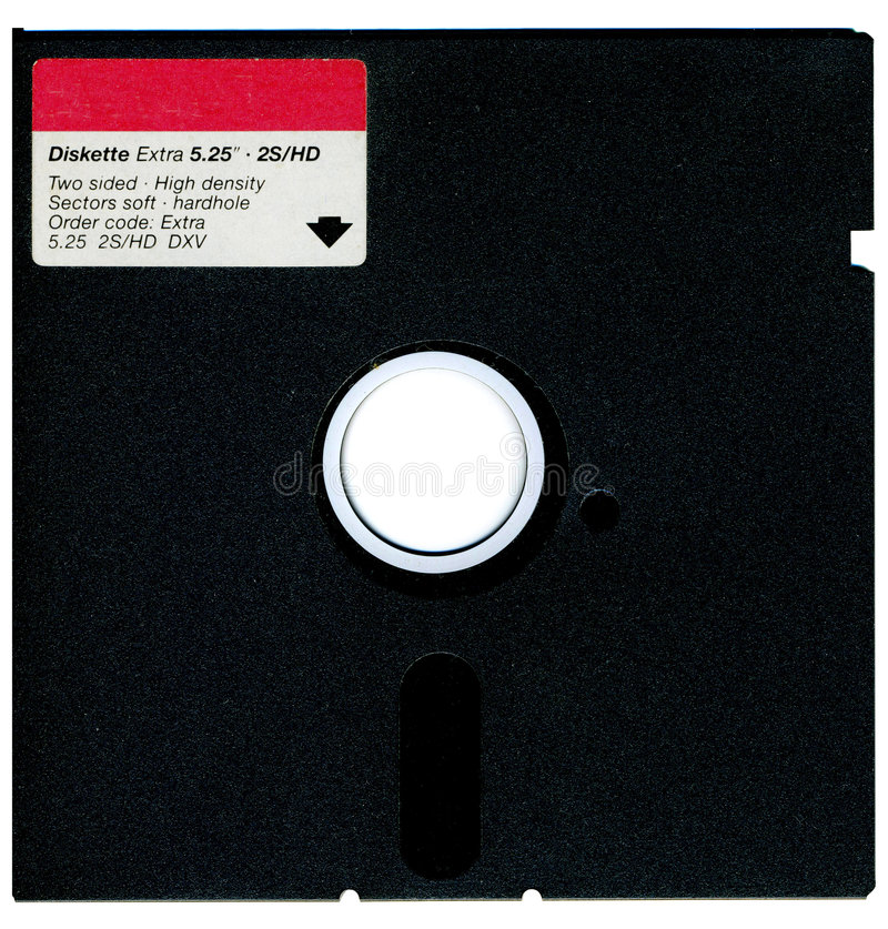 Oude diskette stock foto