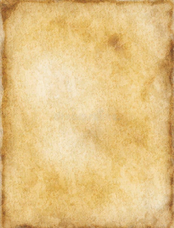 Oude document achtergrond royalty-vrije illustratie