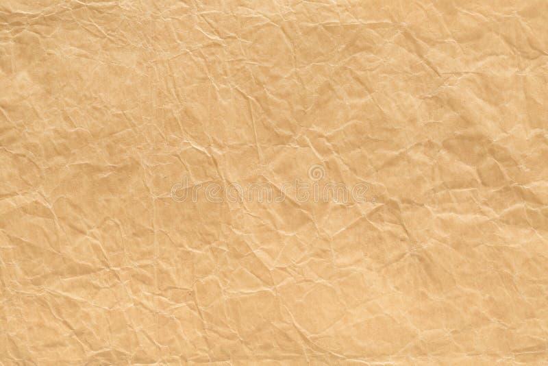 Oude Document Achtergrond, Bruine Gerimpelde Textuur, Grunge-Documenten Patroon royalty-vrije stock foto