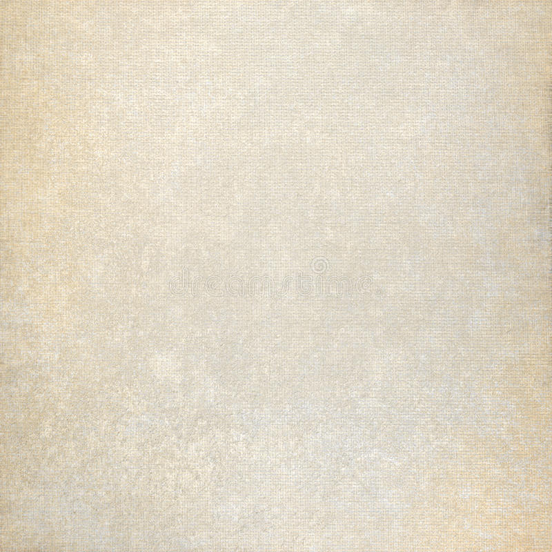 Oude document achtergrond en de beige textuur van het stoffencanvas met subtiele vlekken stock afbeelding