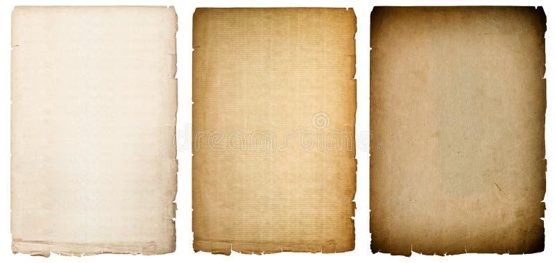 Oude document bladentextuur met donkere randen Uitstekende achtergrond royalty-vrije stock afbeeldingen
