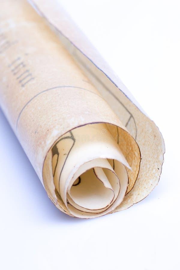 Oude document rol royalty-vrije stock afbeeldingen